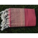 Fouta lurex rose bonbon/or