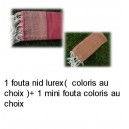 Fouta lurex+1 mini fouta